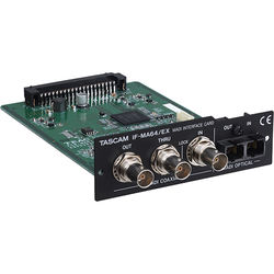 Tascam IF-MA64/EX 64-Channel MADI Optical/Coaxial Interface Card for DA-6400 64-Channel Recorder