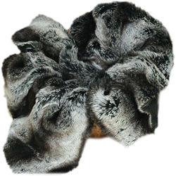 "Custom Photo Props  Black Chinchilla Faux Fur Basket Stuffer Newborn Photo Prop (20 x 31"")"