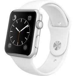 Apple Watch Sport 42mm Smartwatch (Silver Aluminum Case, White Sport Band)
