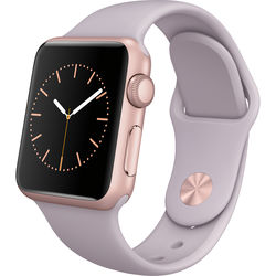 Apple Watch Sport 38mm Smartwatch (Rose Gold Aluminum Case, Lavender Sport Band)