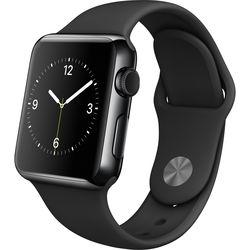 Apple Watch 38mm Smartwatch (Space Black Stainless Steel Case, Black Sport Band)