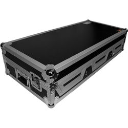 ProX DJ Coffin for 4-Channel DJ Mixer and 2x CD Players with Wheels (Silver-on-Black)