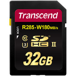 Transcend 32GB Ultimate UHS-II SDHC Memory Card (U3)