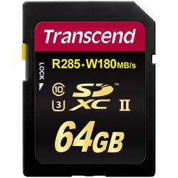 Transcend 64GB Ultimate UHS-II SDXC Memory Card (U3)