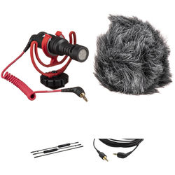 Rode VideoMicro Microphone, Micro Boompole Pro, and Cable Kit