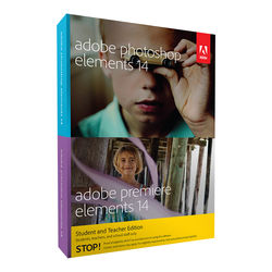 Adobe Photoshop Elements 14 and Premiere Elements 14 (DVD, Student & Teacher Edition)