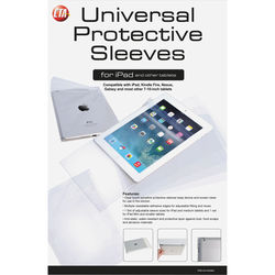 CTA Digital Clear Touch-Sensitive Protective Sleeves for Tablets (10 Medium, 10 Small)