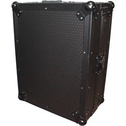 """ProX Mixer Case for Large Format 12"""" DJ Mixers with Laptop Shelf (Black on Black)"""