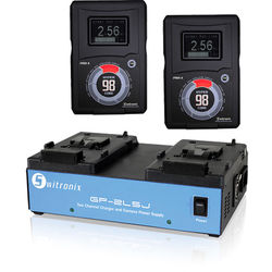 Switronix Two-Battery HyperCore RED 98Wh V-Mount Kit with Dual Charger/Power Supply