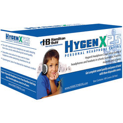"""HamiltonBuhl HygenX 2.5"""" Disposable Sanitary Ear Cushion Covers for On-Ear Headphones and Headsets (Black, 50 Pairs)"""