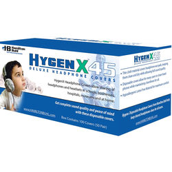 """HamiltonBuhl HygenX 4.5"""" Disposable Sanitary Ear Cushion Covers for Over-Ear Headphones and Headsets (Black, 600 Pairs)"""