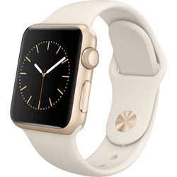 Apple Watch Sport 38mm Smartwatch (Gold Aluminum Case, Antique White Sport Band)