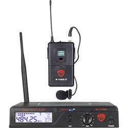 Nady U-1100 Single Receiver UHF Wireless System with 1 x LM-14U Unidirectional Lavalier Microphone