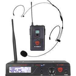 Nady U-1100/HM-20U UHF Unidirectional Condenser Wireless System with 1 x HM-20U Headmic Headworn Condenser Microphone