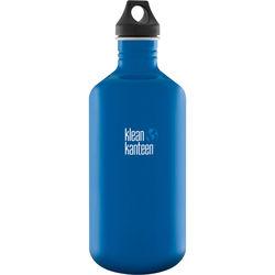Klean Kanteen Classic 64 oz Stainless Steel Water Bottle with Loop Cap (Blue Planet)
