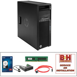 HP Z440 F1M41UT Minitower Workstation Kit with Crucial 8GB DDR4 Memory Module, HP Internal Media Card Reader, Toshiba 5TB Hard Drive, C2G 7-pin SATA Cable, & Installation Service