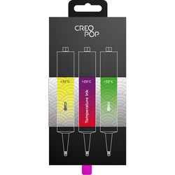 CreoPop Temperature Sensitive Ink 3-Pack (Yellow, Purple, Green)