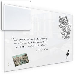 """Balt Luxe Glass 42"""" Magnetic Whiteboard with Corning Gorilla Glass"""