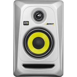 "KRK Rokit 4 G3 30W 4"" Two-Way Active Studio Monitor (Single, Silver)"