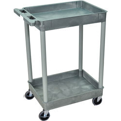 "Luxor 18x24"" Heavy-Duty Utility Cart (Gray)"