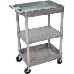 "Luxor 18x24"" HD Utility Cart (Gray)"