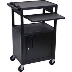 Luxor LP42CLE-B Presentation Cart with Locking Cabinet