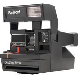 Impossible Polaroid 600 Red Stripe Instant Camera
