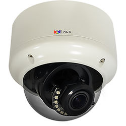 ACTi 3MP Outdoor Weatherproof Vandal Resistant Network Zoom Camera with 2.8 to 12mm Varifocal Lens