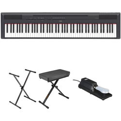 Yamaha P-115 Digital Piano Essentials Bundle (Black)