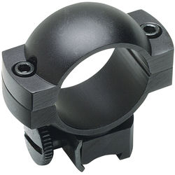 Weaver Weaver Mount Aluminum Ring Pair (30mm Main-Tube, Medium, Matte Black)
