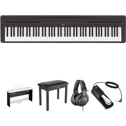 Yamaha P-45 Compact Portable Digital Piano Home Studio Bundle