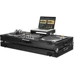"Odyssey Innovative Designs Black Label Low Profile Glide-Style DJ Coffin for 12"" Mixer & Two Turntables"