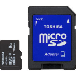 Toshiba 8GB UHS-I microSDHC Memory Card (Class 10)