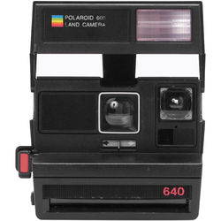 Impossible Polaroid 600 Square Instant Camera (Black)