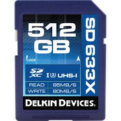 Delkin Devices 512GB Elite UHS-I SDXC Memory Card (Class 10 / U3)
