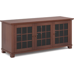 "SALAMANDER DESIGNS Audio/Video Cabinet in Warm Cherry with Glass Doors (66 x 26 x 20"")"