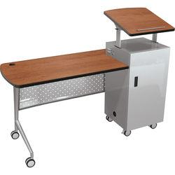 Balt Trend Podium Desk (Amber Cherry)