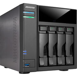 Asustor 4-Bay NAS Server with Intel Celeron Braswell Dual-Core Processor & 2GB Dual-Channel Memory