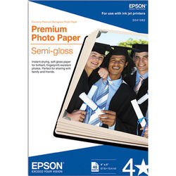 "Epson Premium Photo Paper Semi-Gloss Kit (4 x 6"", Two 40-Sheet Packs)"