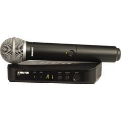 Shure BLX24 Wireless System With PG58 Mic (H9: 512 - 542 MHz)