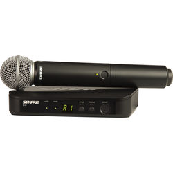 Shure BLX24 Vocal Wireless System With SM58 Mic (H9: 512 - 542 MHz)