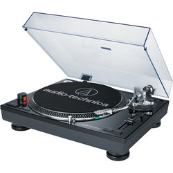 Audio-Technica Consumer AT-LP120USB Direct Drive Professional DJ Turntable with USB Output (Black)