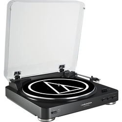 Audio-Technica Consumer AT-LP60USB Fully Automatic Belt-Drive Turntable (Black)