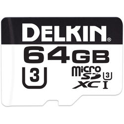 Delkin Devices 64GB microSDXC 660X UHS-I U3 Memory Card (Class 10)