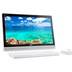 """Acer DC221HQ wmicz 21"""" Full HD All-in-One Desktop Computer with 10-Point Touchscreen Monitor (White with Black Bezel)"""