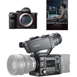 Sony PMWF5A7SLCD PMW-F5 & a7S II Production Crew Bundle with DVF-L350 LCD Viewfinder