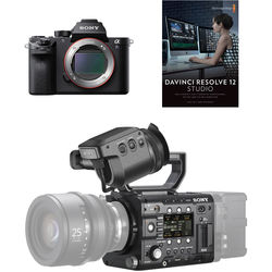 Sony PMWF5A7REL PMW-F5 & a7S II Production Crew Bundle with DVF-EL100 OLED Viewfinder