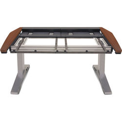 Argosy Eclipse Small Console Workspace for Yamaha Nuage Workstation with Blank Panel 1 Master/1 Fader (Mahogany Trim)