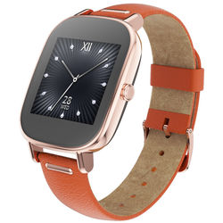 ASUS ZenWatch 2 Android Wear Smartwatch (Rose Gold Casing/Orange Leather Band)