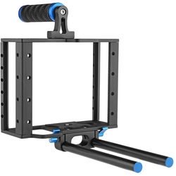 Opteka CXS-500 X-Cage Pro with Handgrip and 15mm Rod System for DSLR Cameras